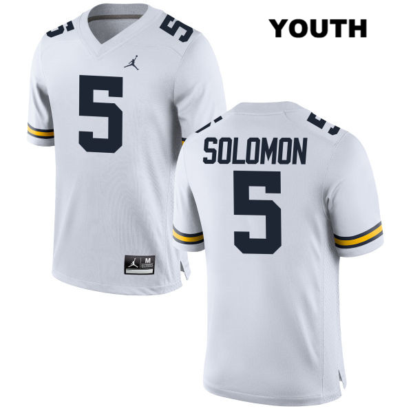 Youth no. 5 Michigan Wolverines Stitched White Aubrey Solomon Jordan Authentic College Football Jersey - Aubrey Solomon Jersey