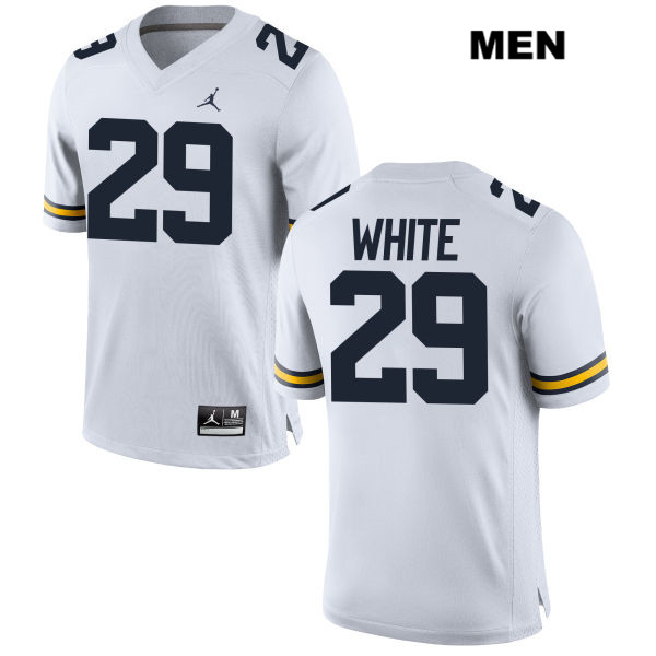 Jordan Mens no. 29 Michigan Wolverines Stitched White Brendan White Authentic College Football Jersey - Brendan White Jersey