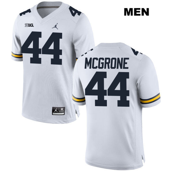 Mens Jordan no. 44 Stitched Michigan Wolverines White Cameron McGrone Authentic College Football Jersey - Cameron McGrone Jersey
