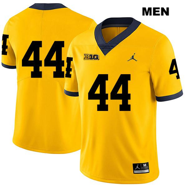 Mens no. 44 Jordan Michigan Wolverines Yellow Stitched Cameron McGrone Legend Authentic College Football Jersey - No Name - Cameron McGrone Jersey
