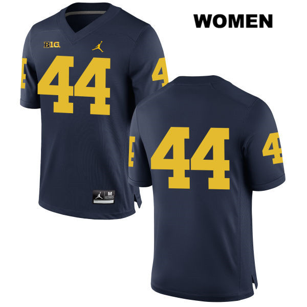 Womens no. 44 Stitched Michigan Wolverines Navy Jordan Cameron McGrone Authentic College Football Jersey - No Name - Cameron McGrone Jersey
