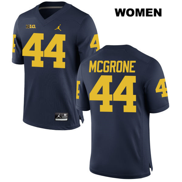 Womens Jordan no. 44 Michigan Wolverines Navy Cameron McGrone Stitched Authentic College Football Jersey - Cameron McGrone Jersey