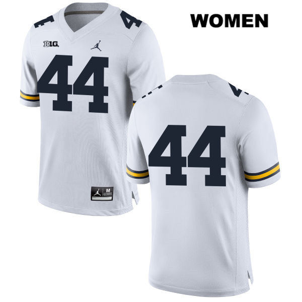 Womens no. 44 Stitched Michigan Wolverines White Jordan Cameron McGrone Authentic College Football Jersey - No Name - Cameron McGrone Jersey