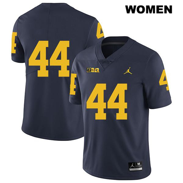 Womens no. 44 Stitched Michigan Wolverines Legend Navy Cameron McGrone Jordan Authentic College Football Jersey - No Name - Cameron McGrone Jersey