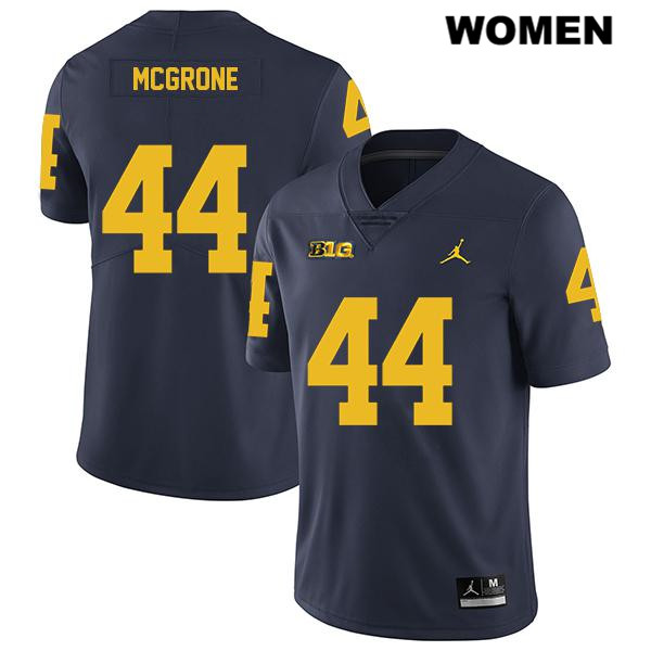 Womens Jordan no. 44 Michigan Wolverines Navy Legend Cameron McGrone Stitched Authentic College Football Jersey - Cameron McGrone Jersey