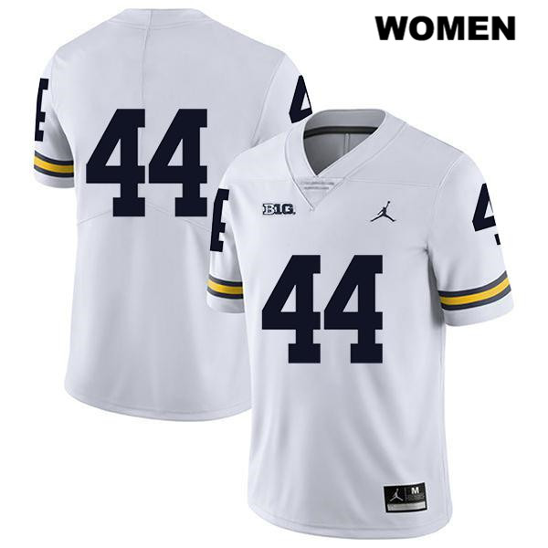 Womens Legend no. 44 Michigan Wolverines Jordan White Stitched Cameron McGrone Authentic College Football Jersey - No Name - Cameron McGrone Jersey