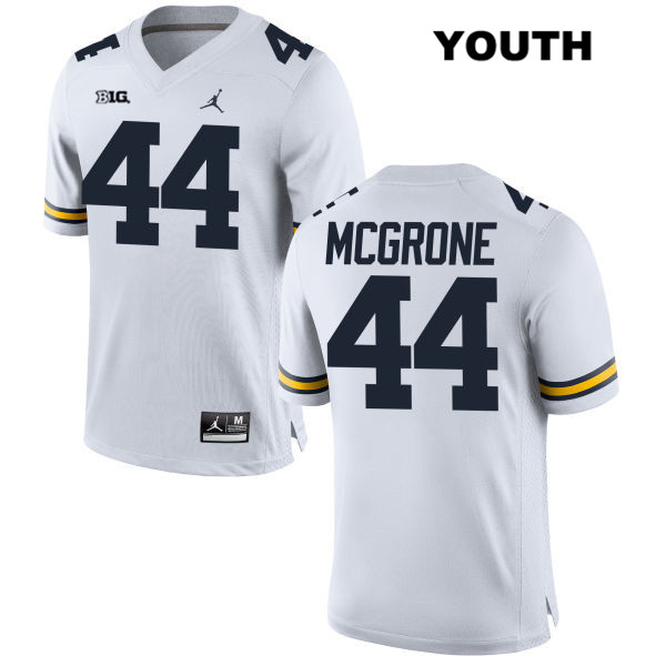 Youth Jordan no. 44 Michigan Wolverines White Cameron McGrone Stitched Authentic College Football Jersey - Cameron McGrone Jersey