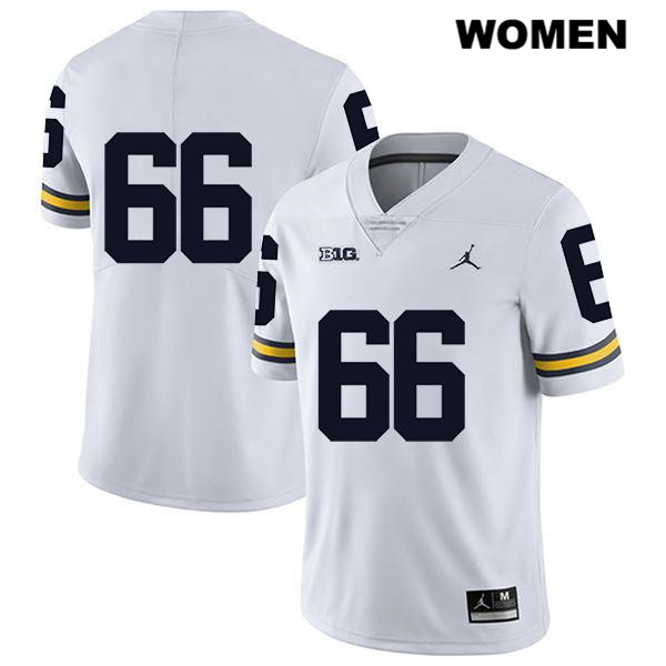Stitched Womens Jordan no. 66 Michigan Wolverines White Legend Chuck Filiaga Authentic College Football Jersey - No Name - Chuck Filiaga Jersey