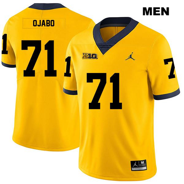 Mens Jordan no. 71 Legend Stitched Michigan Wolverines Yellow David Ojabo Authentic College Football Jersey - David Ojabo Jersey