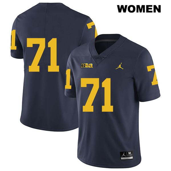 Womens no. 71 Jordan Michigan Wolverines Stitched Navy David Ojabo Legend Authentic College Football Jersey - No Name - David Ojabo Jersey