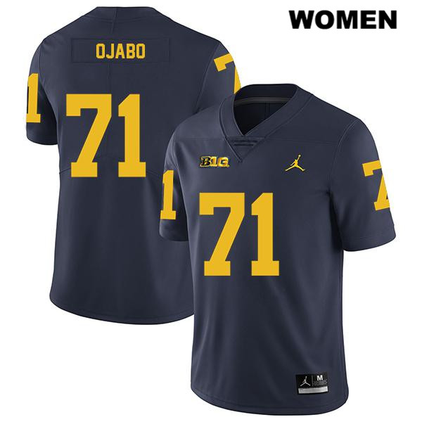 Womens Stitched no. 71 Michigan Wolverines Jordan Navy Legend David Ojabo Authentic College Football Jersey - David Ojabo Jersey