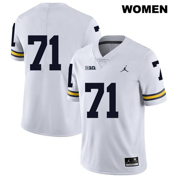 Womens no. 71 Jordan Michigan Wolverines Stitched Legend White David Ojabo Authentic College Football Jersey - No Name - David Ojabo Jersey