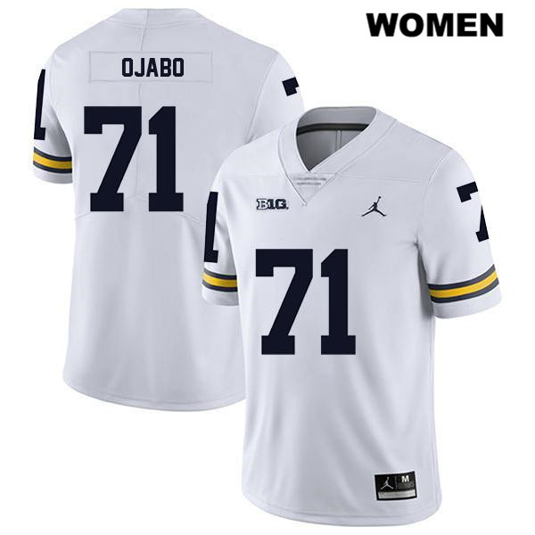 Womens Jordan no. 71 Michigan Wolverines Legend White David Ojabo Stitched Authentic College Football Jersey - David Ojabo Jersey