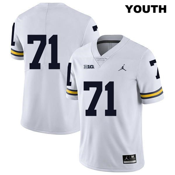 Youth no. 71 Jordan Michigan Wolverines White Legend David Ojabo Stitched Authentic College Football Jersey - No Name - David Ojabo Jersey