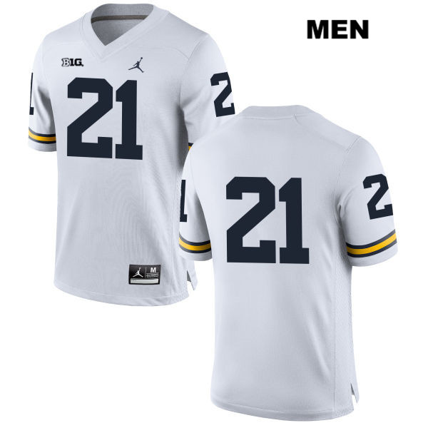 Stitched Mens no. 21 Jordan Michigan Wolverines White Desmond Howard Authentic College Football Jersey - No Name - Desmond Howard Jersey