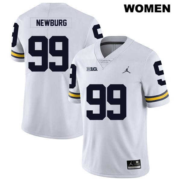 Womens no. 99 Legend Michigan Wolverines Jordan White Gabe Newburg Stitched Authentic College Football Jersey - Gabe Newburg Jersey