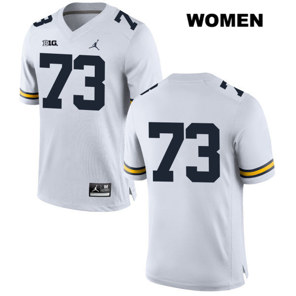 Womens Stitched no. 73 Michigan Wolverines Jordan White Jalen Mayfield Authentic College Football Jersey - No Name - Jalen Mayfield Jersey