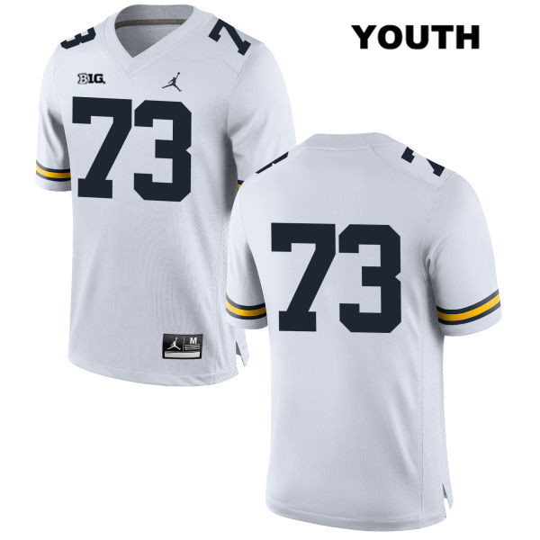 Youth Stitched no. 73 Michigan Wolverines Jordan White Jalen Mayfield Authentic College Football Jersey - No Name - Jalen Mayfield Jersey
