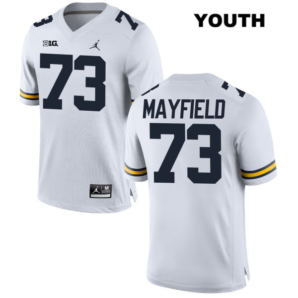 Youth no. 73 Jordan Michigan Wolverines Stitched White Jalen Mayfield Authentic College Football Jersey - Jalen Mayfield Jersey