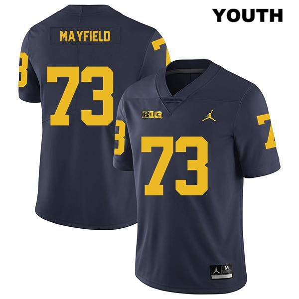Youth no. 73 Stitched Michigan Wolverines Jordan Navy Jalen Mayfield Legend Authentic College Football Jersey - Jalen Mayfield Jersey