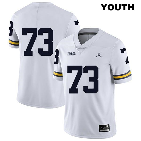 Youth Stitched Jordan no. 73 Legend Michigan Wolverines White Jalen Mayfield Authentic College Football Jersey - No Name - Jalen Mayfield Jersey