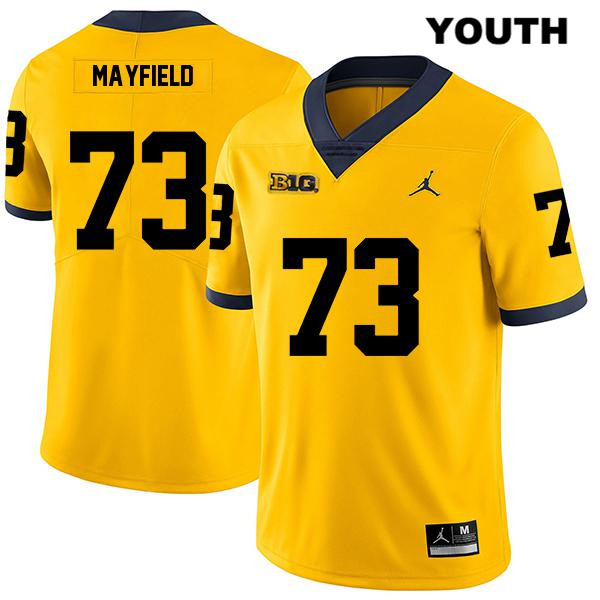 Youth no. 73 Stitched Legend Michigan Wolverines Yellow Jordan Jalen Mayfield Authentic College Football Jersey - Jalen Mayfield Jersey
