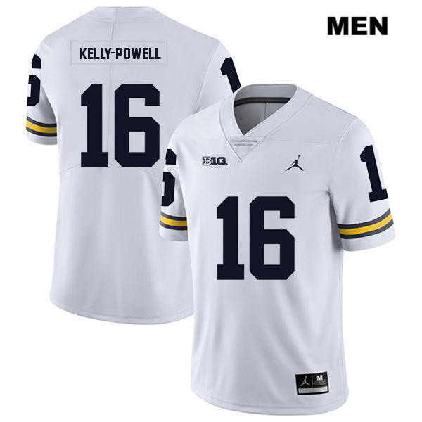 Jordan Mens no. 16 Michigan Wolverines White Legend Jaylen Kelly-Powell Stitched Authentic College Football Jersey - Jaylen Kelly-Powell Jersey