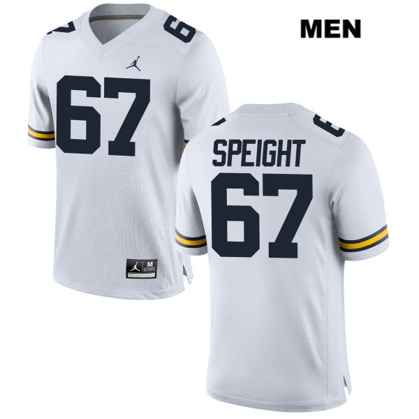 Mens no. 67 Michigan Wolverines Stitched White Jordan Jess Speight Authentic College Football Jersey - Jess Speight Jersey