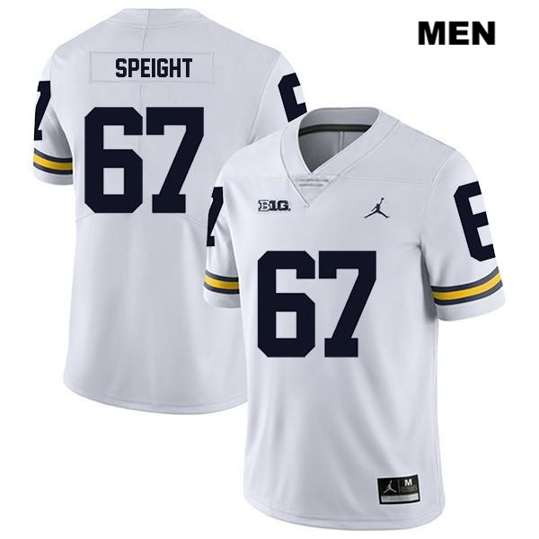 Mens Jordan no. 67 Michigan Wolverines White Stitched Jess Speight Legend Authentic College Football Jersey - Jess Speight Jersey