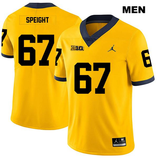 Mens Stitched no. 67 Legend Michigan Wolverines Yellow Jess Speight Jordan Authentic College Football Jersey - Jess Speight Jersey