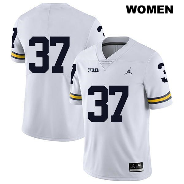 Legend Womens no. 37 Stitched Michigan Wolverines Jordan White Jonathan Lampani Authentic College Football Jersey - No Name - Jonathan Lampani Jersey