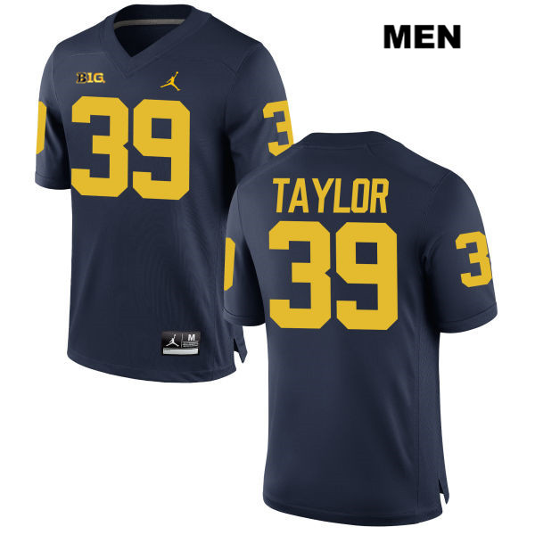 Mens no. 39 Michigan Wolverines Jordan Navy Kurt Taylor Stitched Authentic College Football Jersey - Kurt Taylor Jersey
