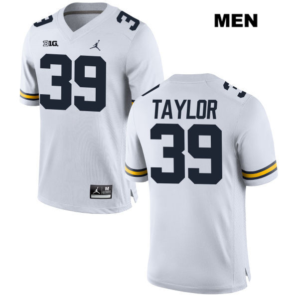Mens Stitched no. 39 Michigan Wolverines Jordan White Kurt Taylor Authentic College Football Jersey - Kurt Taylor Jersey