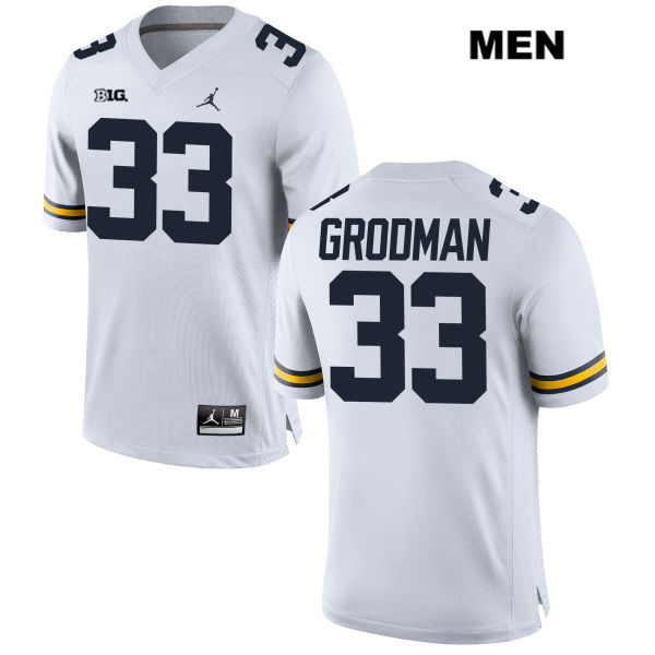Mens Stitched no. 33 Michigan Wolverines Jordan White Louis Grodman Authentic College Football Jersey - Louis Grodman Jersey