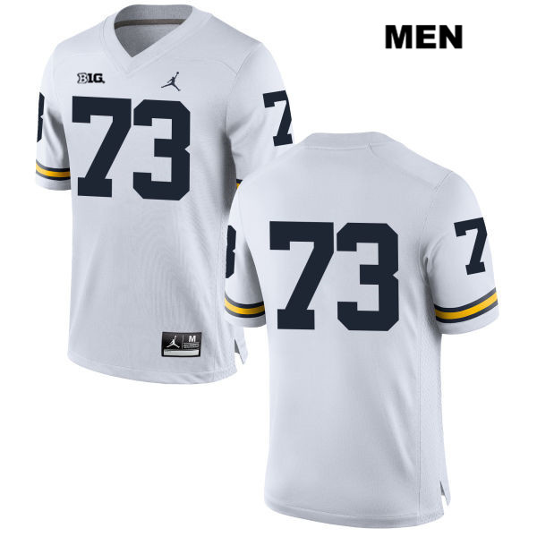 Mens no. 73 Stitched Michigan Wolverines White Jordan Maurice Hurst Authentic College Football Jersey - No Name - Maurice Hurst Jersey