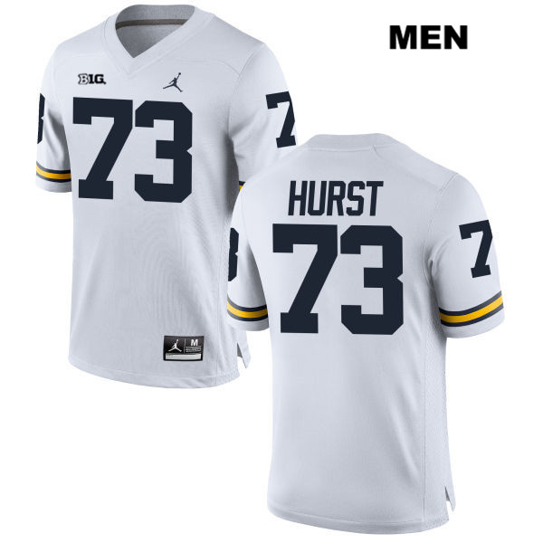 Mens Jordan no. 73 Stitched Michigan Wolverines White Maurice Hurst Authentic College Football Jersey - Maurice Hurst Jersey