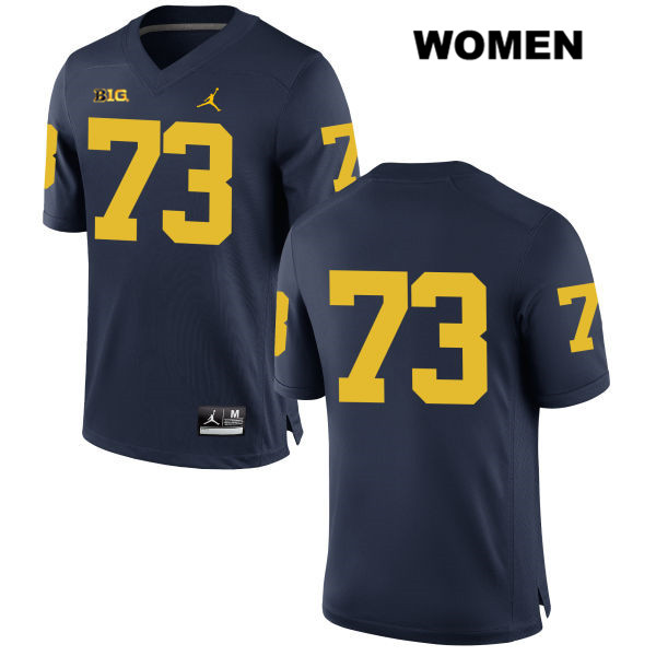 Stitched Womens no. 73 Michigan Wolverines Navy Maurice Hurst Jordan Authentic College Football Jersey - No Name - Maurice Hurst Jersey