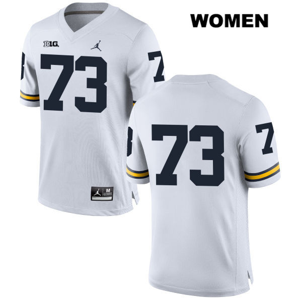 Womens no. 73 Jordan Michigan Wolverines White Maurice Hurst Stitched Authentic College Football Jersey - No Name - Maurice Hurst Jersey