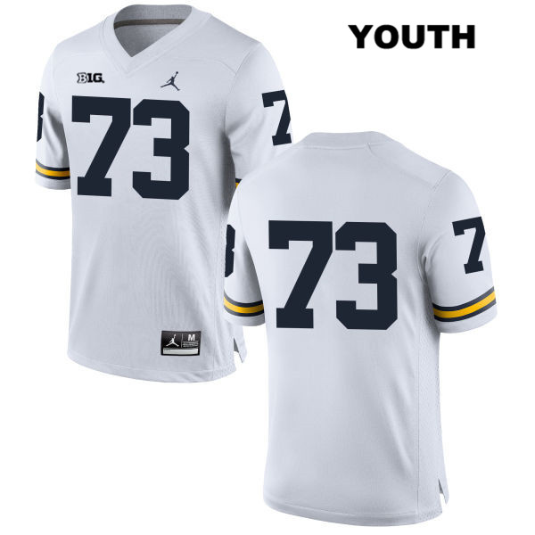 Youth no. 73 Michigan Wolverines Stitched White Maurice Hurst Jordan Authentic College Football Jersey - No Name - Maurice Hurst Jersey