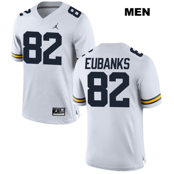 Mens Jordan no. 82 Michigan Wolverines White Nick Eubanks Stitched Authentic College Football Jersey - Nick Eubanks Jersey
