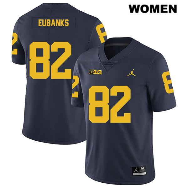 Womens Jordan no. 82 Legend Michigan Wolverines Navy Nick Eubanks Stitched Authentic College Football Jersey - Nick Eubanks Jersey