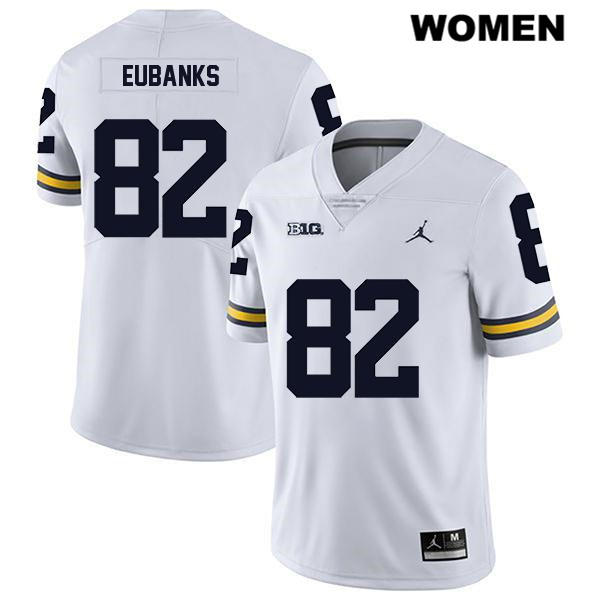 Womens no. 82 Michigan Wolverines Jordan White Legend Nick Eubanks Stitched Authentic College Football Jersey - Nick Eubanks Jersey
