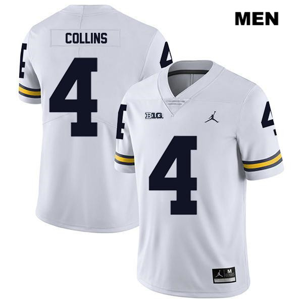 Mens Legend no. 4 Michigan Wolverines White Jordan Nico Collins Stitched Authentic College Football Jersey