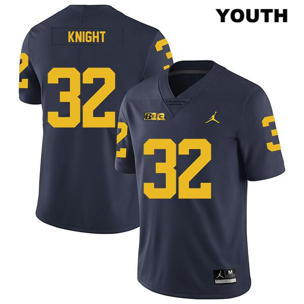 Youth Jordan no. 32 Stitched Michigan Wolverines Navy Nolan Knight Legend Authentic College Football Jersey - Nolan Knight Jersey