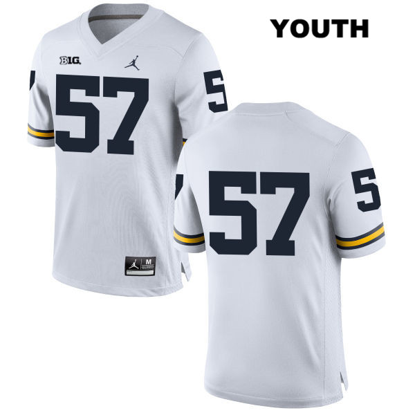 Youth no. 57 Michigan Wolverines Jordan White Stitched Patrick Kugler Authentic College Football Jersey - No Name - Patrick Kugler Jersey