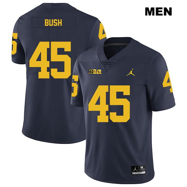 Mens no. 45 Stitched Michigan Wolverines Jordan Navy Legend Peter Bush Authentic College Football Jersey - Peter Bush Jersey