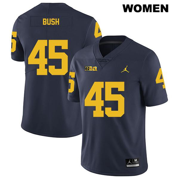Legend Womens no. 45 Jordan Michigan Wolverines Navy Stitched Peter Bush Authentic College Football Jersey - Peter Bush Jersey