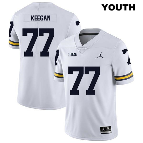 Youth Legend no. 77 Stitched Michigan Wolverines Jordan White Trevor Keegan Authentic College Football Jersey - Trevor Keegan Jersey