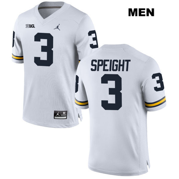 Mens no. 3 Michigan Wolverines White Stitched Wilton Speight Jordan Authentic College Football Jersey - Wilton Speight Jersey